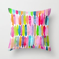 Colorful Dashes Tribal Throw Pillow