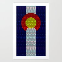 Colorado Flag/Geometric Art Print