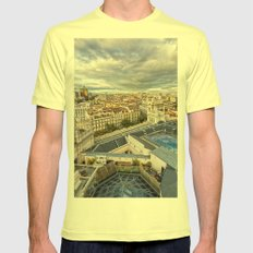 Madrid Mens Fitted Tee Lemon SMALL