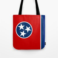 State flag of Tennessee, HQ image Tote Bag