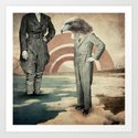 i'll be standing on the shore Art Print