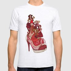 Ladies In Red Mens Fitted Tee Ash Grey SMALL