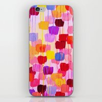 DOTTY in Pink - October Special Revisited Bold Colorful Square Polka Dots Original Abstract Painting iPhone & iPod Skin