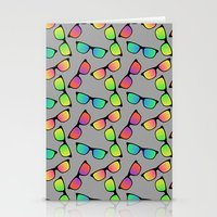 Sunglasses Pattern Stationery Cards