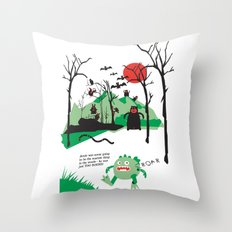 Arnie was just too round... Throw Pillow