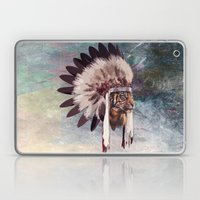 Tiger in war bonnet Laptop & iPad Skin