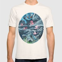 Water Gods Mens Fitted Tee Natural SMALL