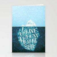 Hermit Iceberg Stationery Cards