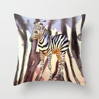 Camouflage Zebra, wildlife art, zebra art, cute nursery zebra, zebra pillow, safari art Throw Pillow