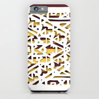 iPhone & iPod Case featuring Aztec Pattern Papercut by Katy Betz