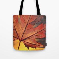 maple leaf - square -brown Tote Bag