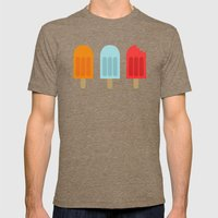 Ice Lollies Mens Fitted Tee Tri-Coffee SMALL