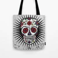 Sugar Skull Star Tote Bag