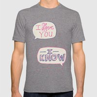 Conceited Valentine Mens Fitted Tee Tri-Grey SMALL