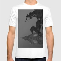 Big Ben And Boudica Mens Fitted Tee White SMALL