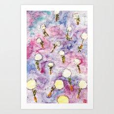 Dandelion, where you want to go? Art Print