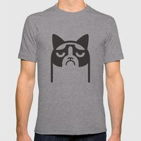 Grumpy Kitties Mens Fitted Tee Athletic Grey SMALL