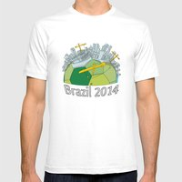 Brazilization Mens Fitted Tee White SMALL