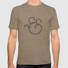 Handmade Ampersand  Mens Fitted Tee Tri-Coffee SMALL