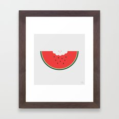 Water Melon Framed Art Print