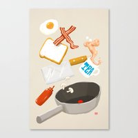 Breakfast Time Canvas Print