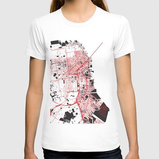 San Francisco Noise Map T-shirt