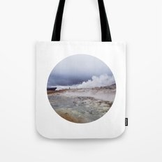 Man on the moon, Iceland Tote Bag
