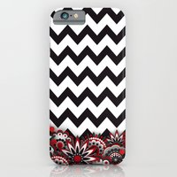 iPhone & iPod Case featuring Floral Chevron. by Digi Treats 2