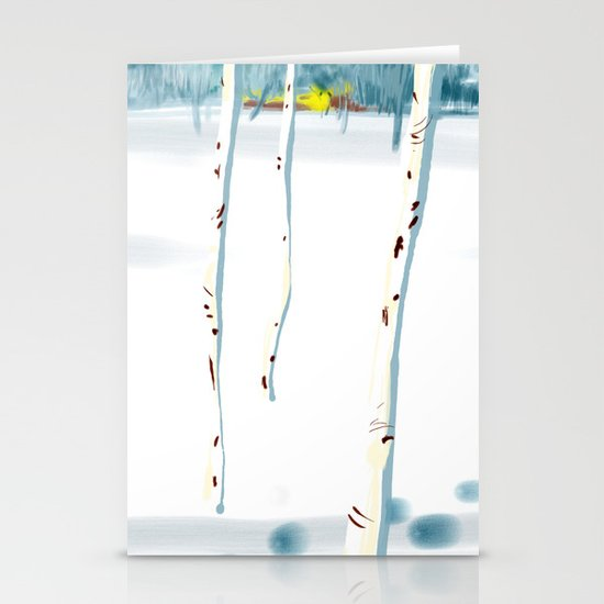Betulle nella neve Stationery Card