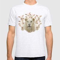 Lambs led by a lion Mens Fitted Tee Ash Grey SMALL
