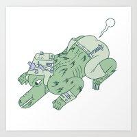 Wazmunster Poot Poot  Art Print