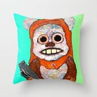 Eccentric Ewok Throw Pillow