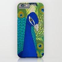 Peacock In Colour iPhone 6 Slim Case
