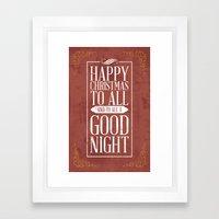 Happy Christmas Framed Art Print
