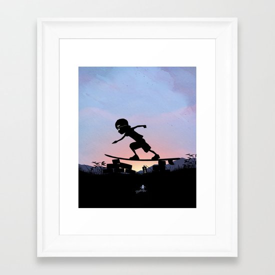 Silver Surfer Kid Framed Art Print