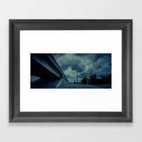 Spring storms Framed Art Print