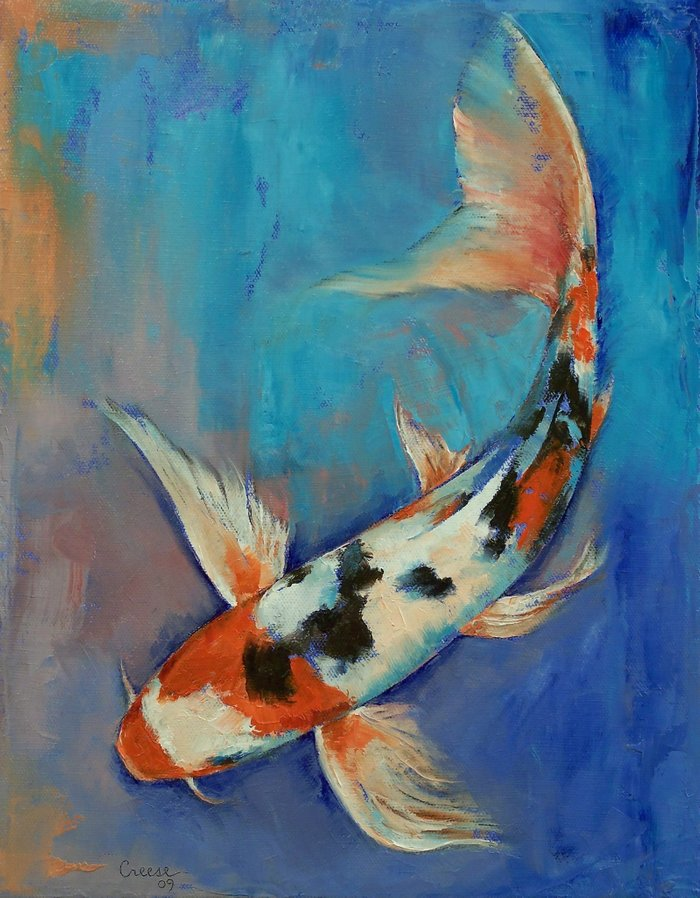 Sanke Butterfly Koi Canvas Print By Michael Creese Society6