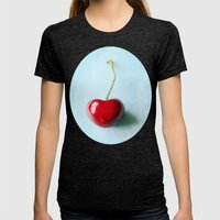My Heart On a String  Womens Fitted Tee Tri-Black SMALL