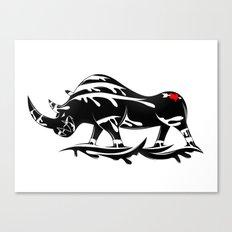 Angry Rhino Canvas Print
