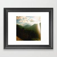 rainier . holga Framed Art Print