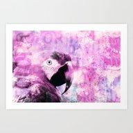 Crazy Parrot Art Print