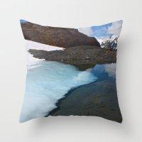 Ice Lake Throw Pillow