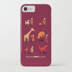 Please Keep Pets on a Leash iPhone 7 Slim Case