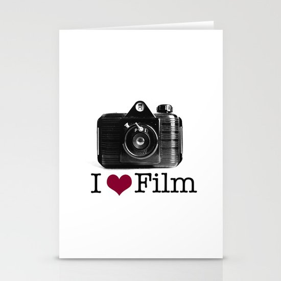 I ♥ Film Stationery Card