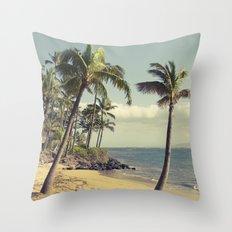 Maui Lu Beach Kihei Maui Hawaii Throw Pillow