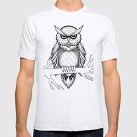 Owl Be Seeing You Mens Fitted Tee Ash Grey SMALL