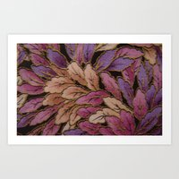 Coloured Leaves Art Print
