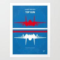 No128 My TOP GUN Minimal… Art Print