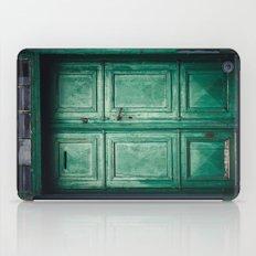 Green old door iPad Case