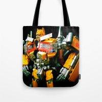 The Golden Optimus Tote Bag